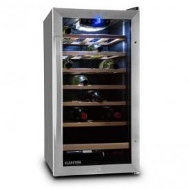 Vivo Vino 26 Weinkühlschrank 26 Flaschen 88 Liter Edelstahl LED