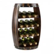 Barrica Holz-Weinregal Weinfass Flaschenständer 14 Flaschen Fichte