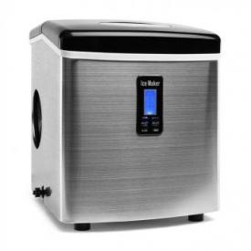 Mr. Black-Frost Eiswürfelmaschine 150W Edelstahl schwarz 13kg