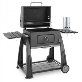 Klarstein Bigfoot Set Holzkohlegrill BBQ Smoker + elektrischer Anzünder