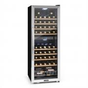 Klarstein Vinamour 54D Weinkühlschrank 2 Zonen 148 l 54 Flaschen Edelstahlfront