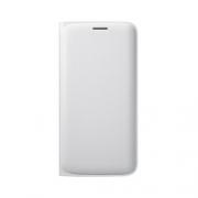 Samsung Flip Wallet PU für Galaxy S6 edge – weiss Handytasche